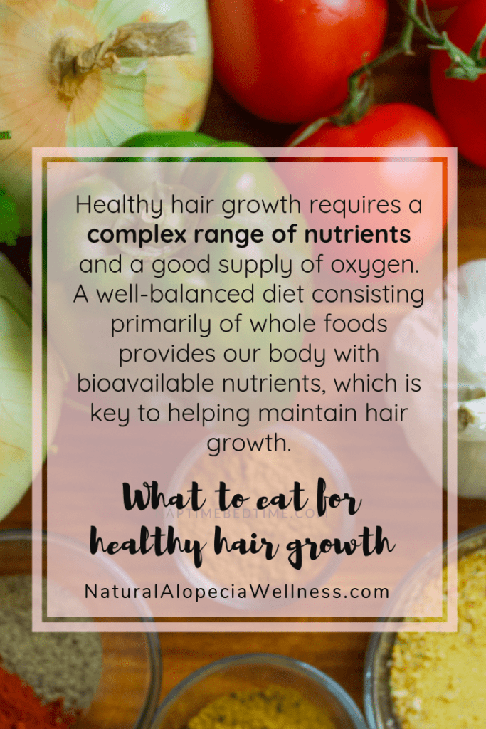 Key nutrients to help hair regrowth in alopecia at Natural Alopecia Wellness Pin