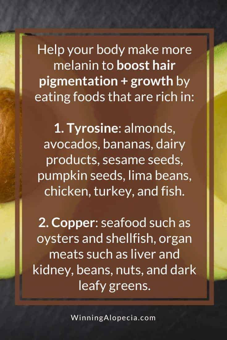 How to make more melanin for hair growth on Winning Alopecia Pinterest