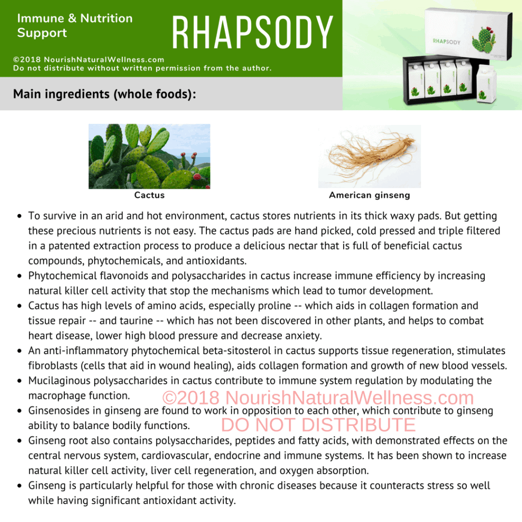 Rhapsody immune and health support for Nutritional Immunology