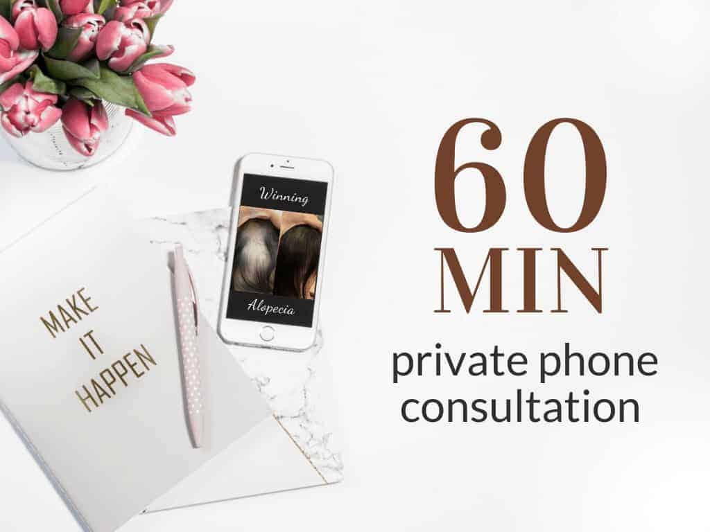 60 Minute Phone Consultation Coaching on Winning Alopecia