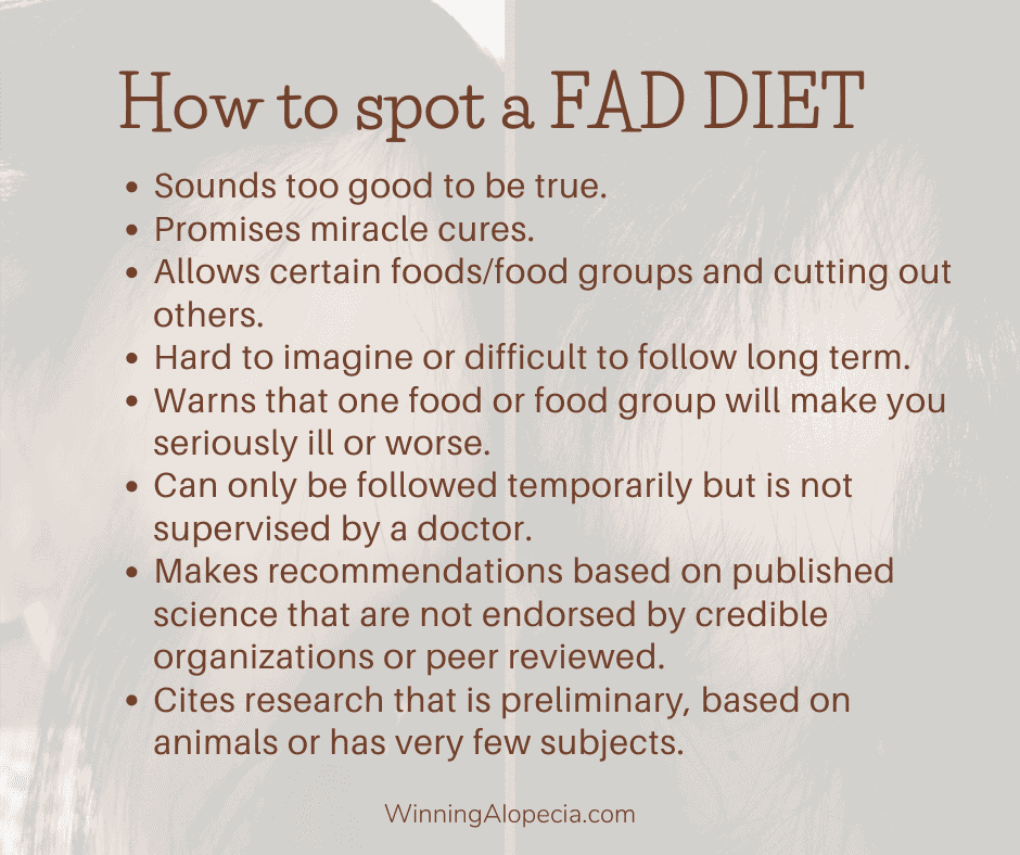How to spot a fad diet protocol on Winning Alopecia