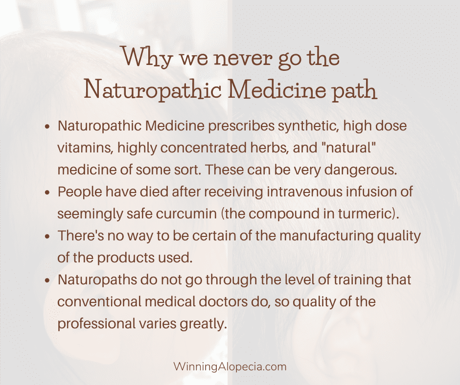 Why don't go the naturopathic medicine path on Winning Alopecia