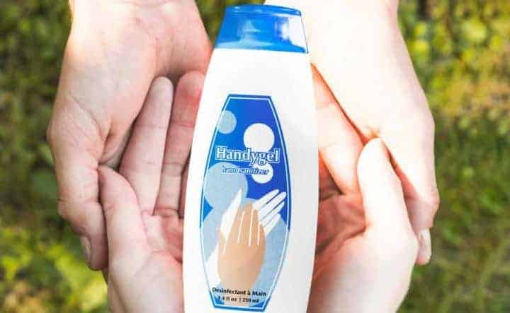Hand sanitizers that don't leave harmful residues