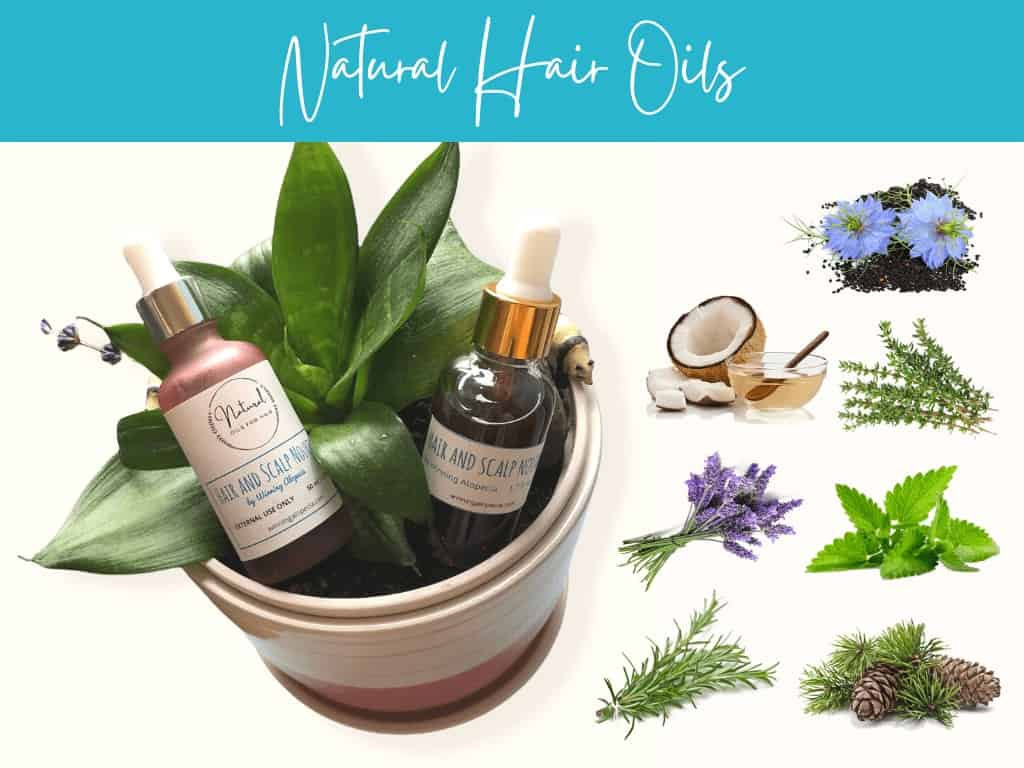 Natural essential oils treatment for hair growth and Alopecia