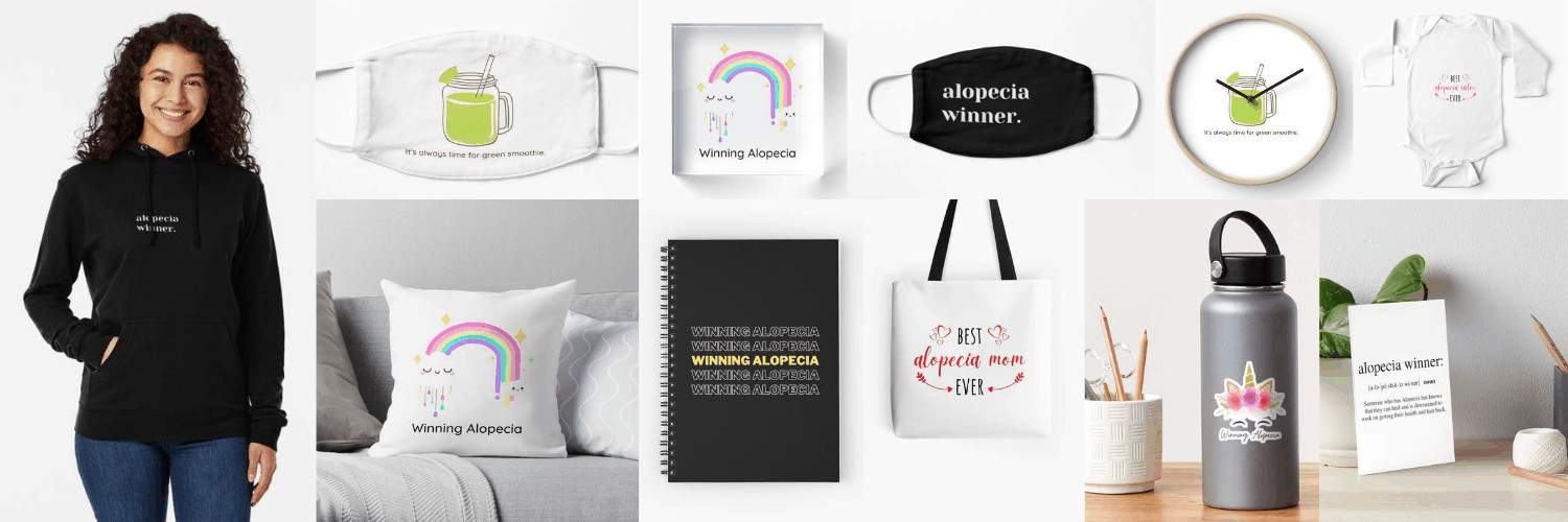 Winning Alopecia Gifts and Merchandise Items